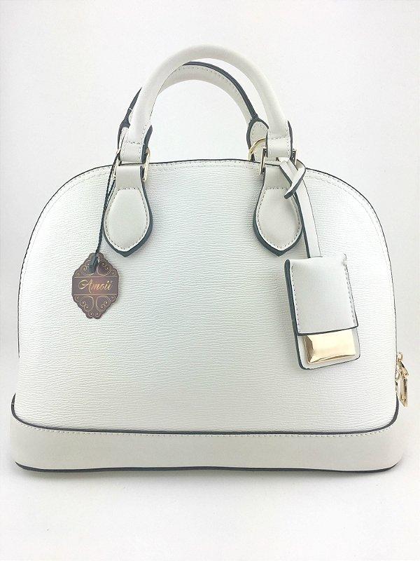 Bolsa inspired Louis Vuitton Alma bb branca