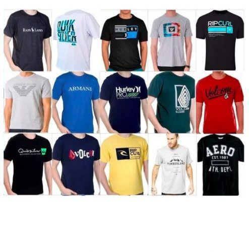 Kit com 10 Camisetas Estampadas - Grife 62fbdeb0cc9
