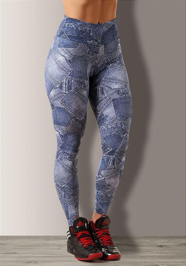 Legging Bolsos Jeans Sublimada