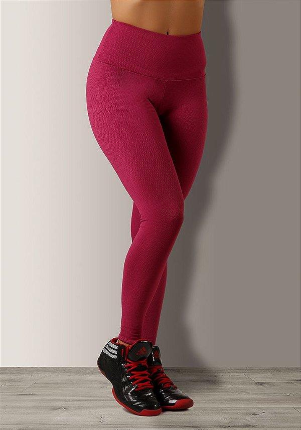Legging Texturizada Rosa Jacquard
