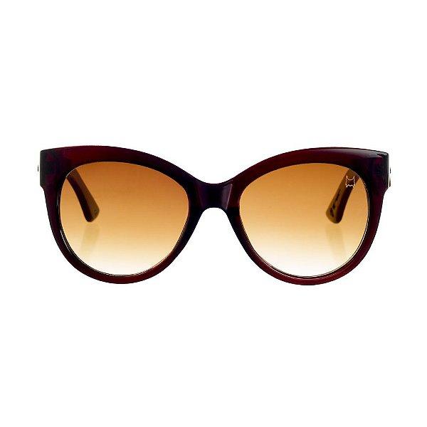 Óculos Woodlince Bamboo Pin-Up Vinho