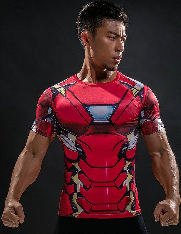Camisa Camiseta Homen de Ferro Compressão Térmica e 3D Slim Fit ... bc422d7703ef9