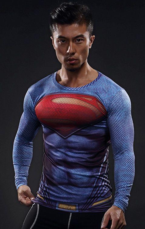 Camisa Superman - Liga da Justiça 2017 Manga Longa