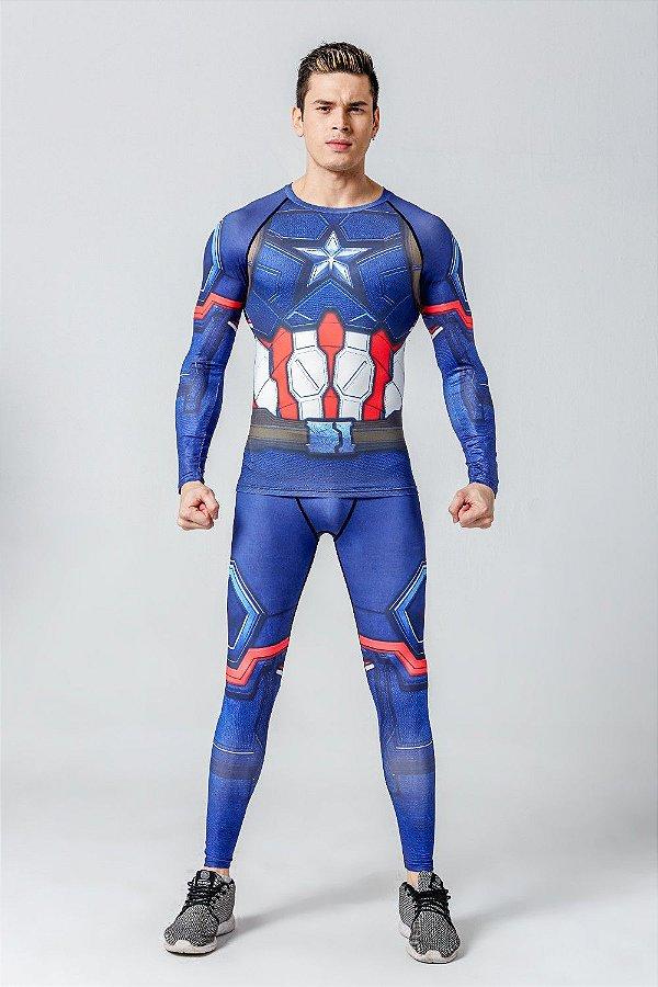 Conjunto Capitão América 2018