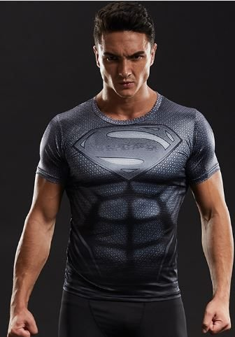 Camisa Superman Black Titanium