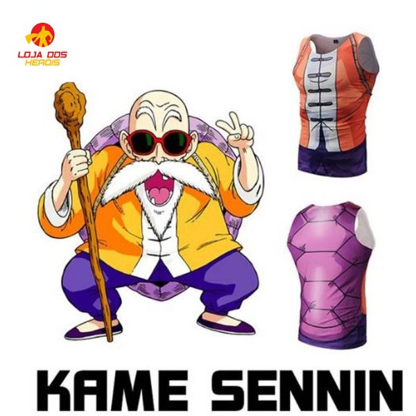 Camisa Mestre Kame - Dragon Ball