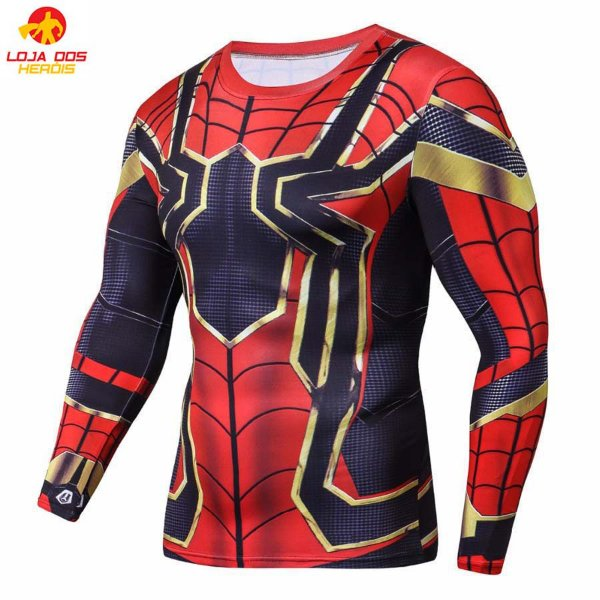 Camisa Aranha De Ferro - Guerra Infinita Manga Longa