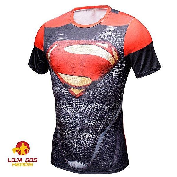 Camisa Superman - Injustice Manga Curta Compressão Térmica e 3D Slim ... 9a4cbe29e656a
