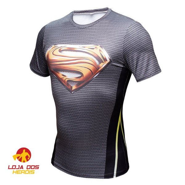 Camisa Superman - Man Of Steel - Black