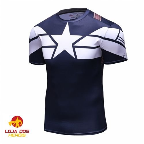 Camisa Capitão América Uniforme Clássico