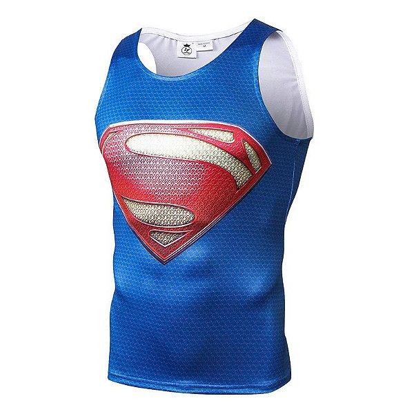 Camisa Camiseta Superman Regata Compressão Térmica e 3D Slim Fit ... df99fb134ea4c