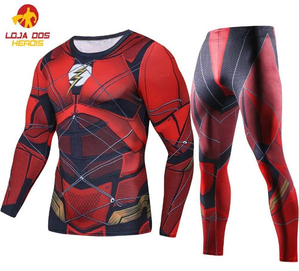 Conjunto Calça Flash Liga da Justiça