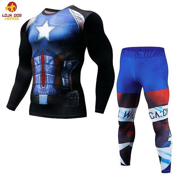 Conjunto Calça Capitão América Desenho