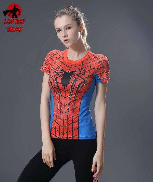 Camisa Feminina Homem Aranha