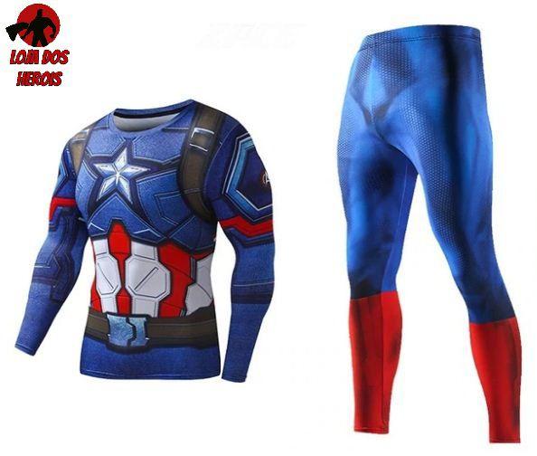Conjunto Calça Capitão America Vingadores
