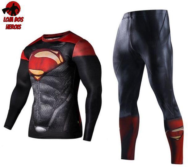 Conjunto Calça Superman Red Manga
