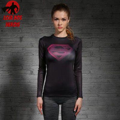 Camisa Feminina Superman Mod ll - Manga Longa
