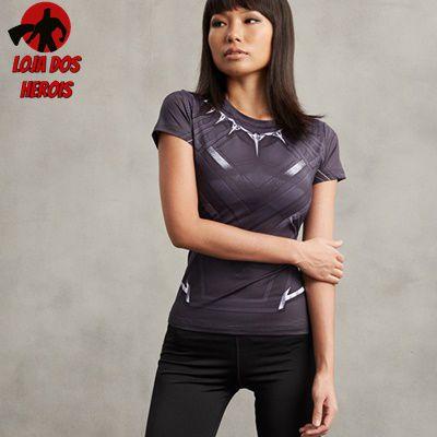 Camisa Feminina Pantera Negra