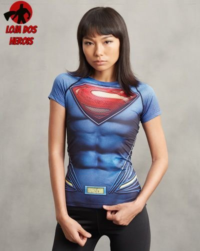 Camisa Feminina Superman - Liga Da Justiça