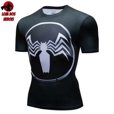 Camiseta Venom Filme Compressão