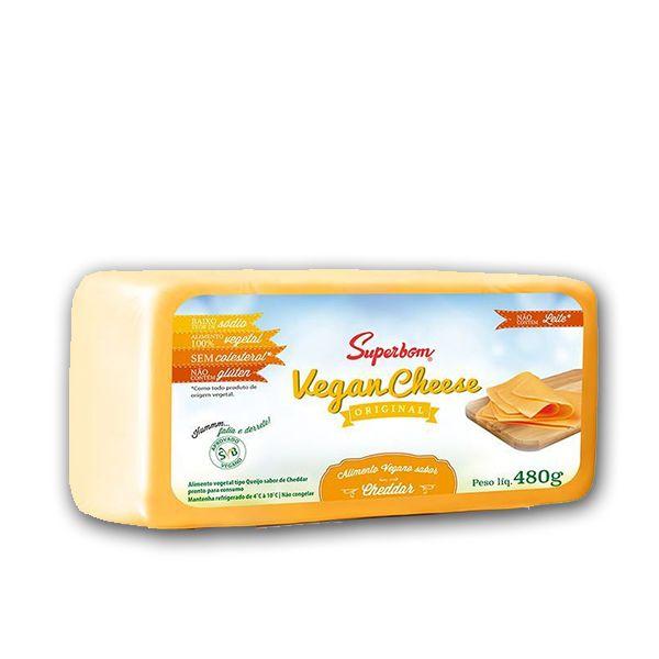 Queijo Vegano VeganCheese Cheddar Superbom 480g ❄