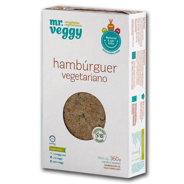 Hambúrguer Vegetariano Mr. Veggy 360g (6 unidades) ❄