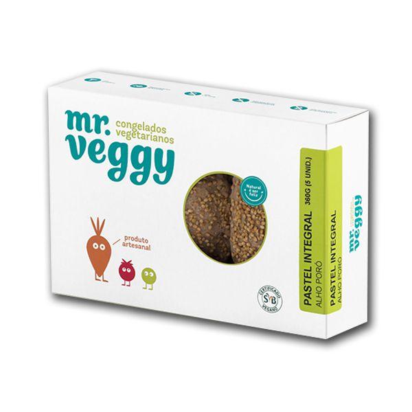 Pastel Integral com Alho Poró  Mr. Veggy 360g (5 unidades) ❄
