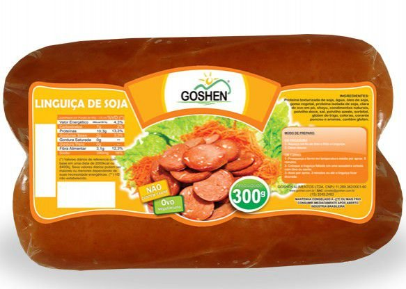 Vegges Linguiça Apimentada de Soja Goshen 300g (2 unidades) ❄