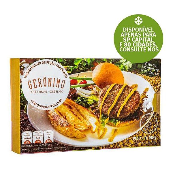 Hambúrguer de Feijão Fradinho com Quinoa e Psyllium Gerônimo 400g❄