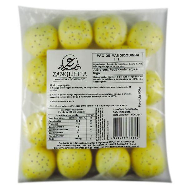 Pão de Mandioquinha Fit Multigrãos Zanquetta (17 unidades) 500g ❄