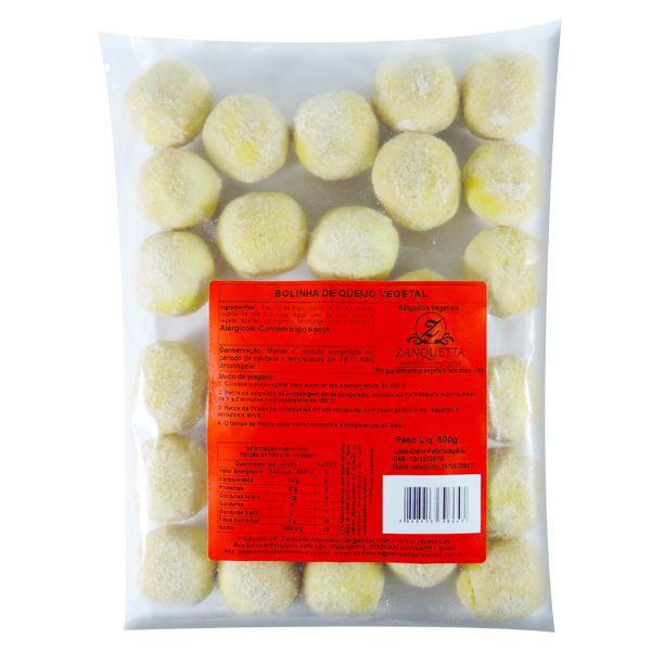 Bolinha de Queijo Vegetal Zanquetta Congelados 500g ❄
