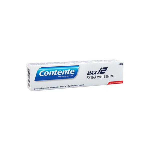 Creme Dental Max 12 Extra Whitening Contente 90g