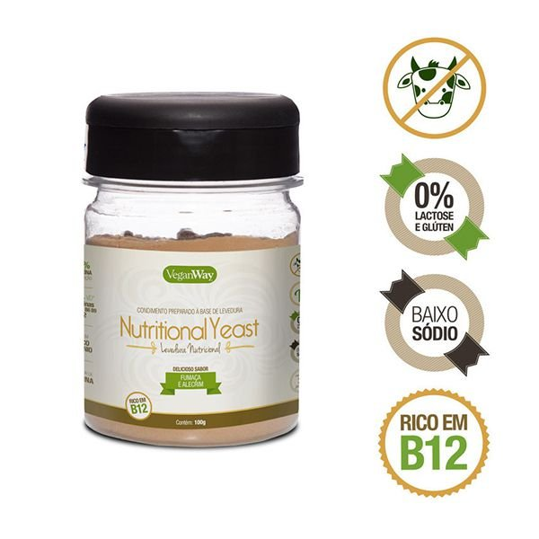 Nutritional Yeast (Levedura Nutricional) de Fumaça e Alecrim VeganWay 100g