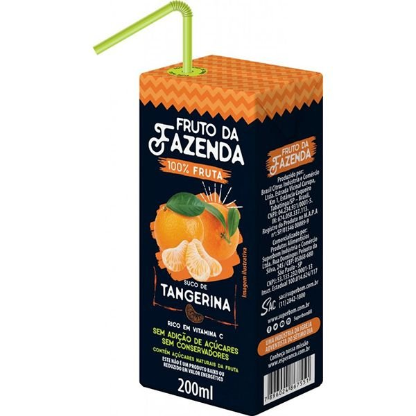 Suco de Tangerina 100% Fruto da Fazenda Superbom 200ml