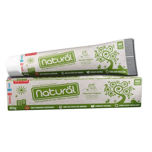 Creme Dental Contente Natural 80g
