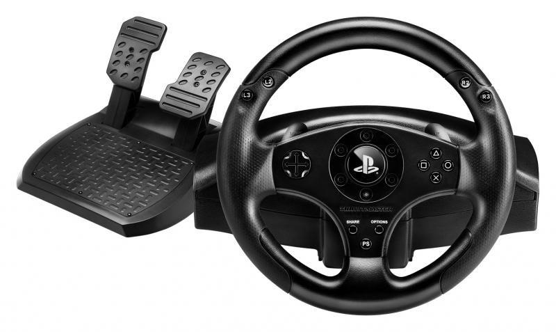 Controle Volante T80 para PS3/PS4 Racing Wheel, Volante, Pedais e Cambio borboleta - Thrustmaster