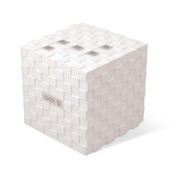 Caixa de Som Speaker Music Box SK-401 Bluetooth,com Microfone Branco - OEX
