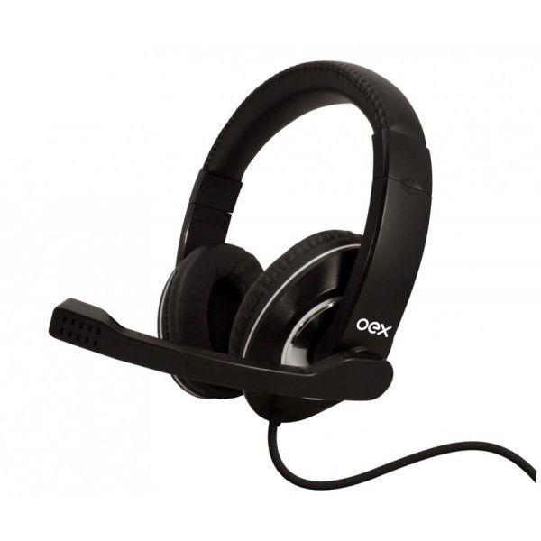 Headset Prime USB com Microfone HS-201 Preto - OEX