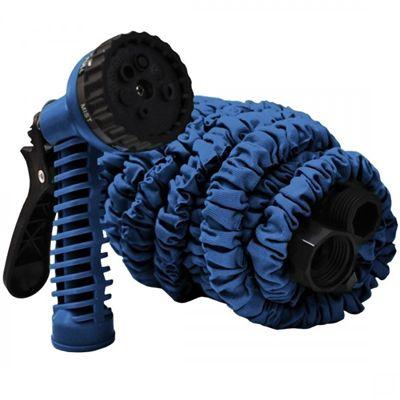 Mangueira Mágica WOOW 7,5m Azul com 7 Tipos de Jatos
