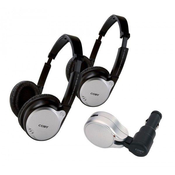 Kit veicular transmissor portátil via FM com 2 fones de ouvido sem fio - CV870 - Coby