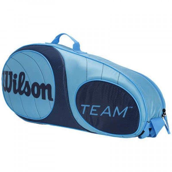 Raqueteira Wilson Team 3 Pack Azul