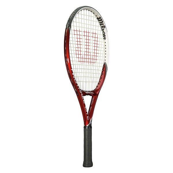 Raquete de Tênis Wilson Two Three Lite BLX L3 Vermelha e Preta