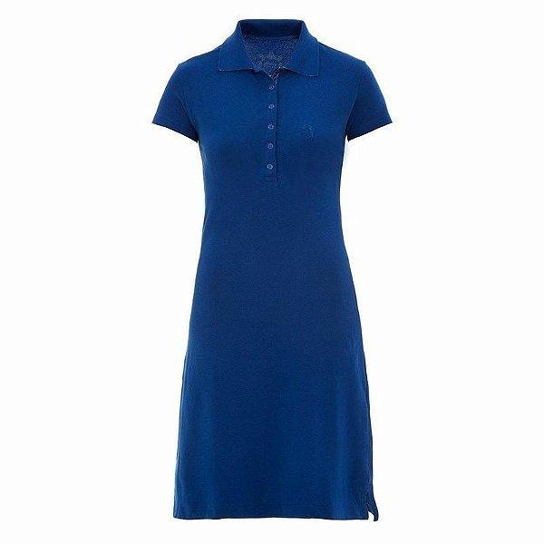 Vestido Polo Aleatory Liso Azul