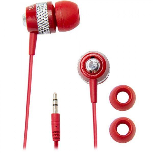 Fone de ouvido estéreo - JAMMERZ STREETS vermelha - CVE55 - Coby