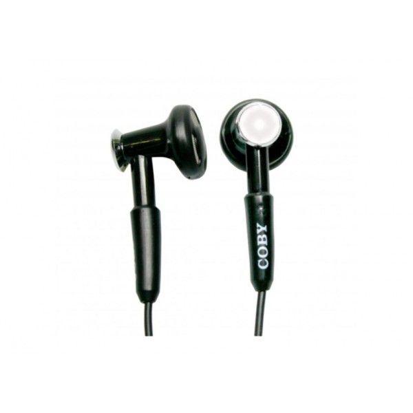 Fone de ouvido intra-auricular com suporte para pescoço e conector estéreo de 2,5mm branca - CVE972 - Coby