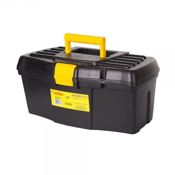 "Maleta Para Ferramenta Sem Bandeja Handy Box Plus 16"" - Multbox"