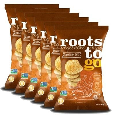 Chips de Cará Roots To Go 45g - 06 unidades