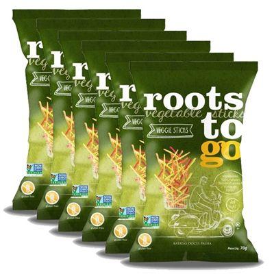 Mix de Batata Doce Palha Roots To Go 70g - 06 unidades