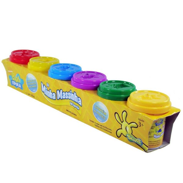Massinha Sunny Bob Esponja c/ 6 Potes Pequenos