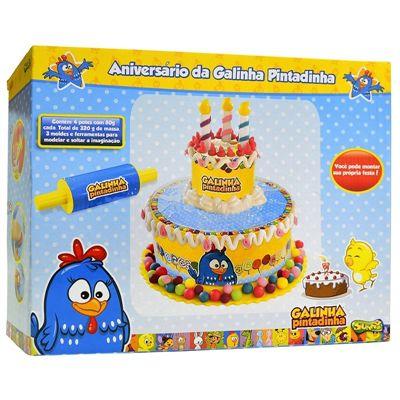 Conjunto de Massinhas Aniversário da Galinha Pintadinha - Sunny